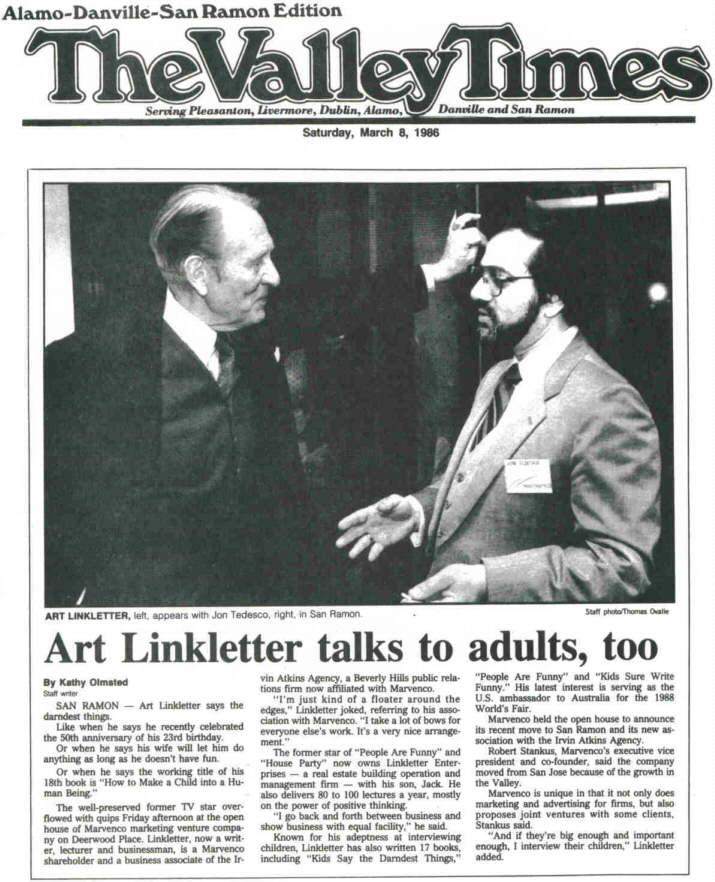 Art Linkletter and Jon Tedesco