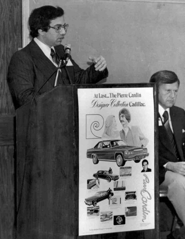 Jon Tedesco introducing the Pierre Cardin Cadillac